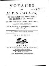 Voyages de m. P. S. Pallas, en differentes provinces de l'empire de Russie, et dans l'Asie septentrionale: Atlas