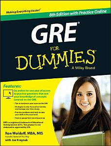GRE For Dummies Book