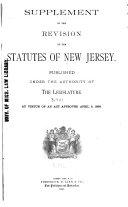 Revision of the Statutes of New Jersey