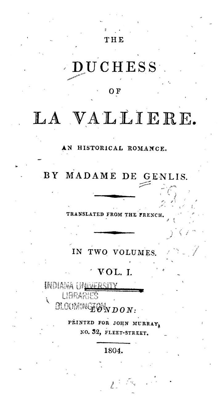 The Duchess of La Vallière