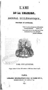L'Ami de la religion: Volume115