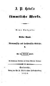 J. P. Hebel's sämmtliche Werke: Band 1