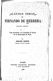 Algunas obras de Fernando de Herrera