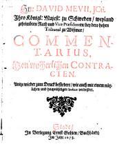 Commentarius von wucherlichen Contracten wieder zum Druck befördert
