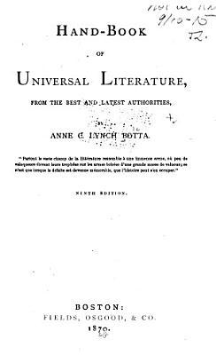 Handbook of Universal Literature PDF