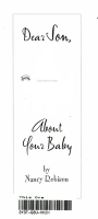 Dear Son  about Your Baby PDF