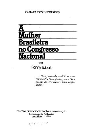 A mulher brasileira no Congresso Nacional PDF