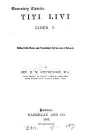 Titi Livi liber i, ed. by H.M. Stephenson