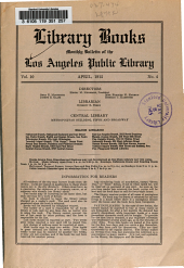 Library Books: Monthly Bulletin of the Los Angeles Public Library, Volume 10, Issue 4