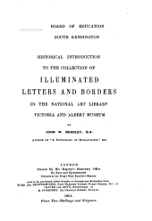 Historical Introduction to the Collection of Illuminated Letters and Borders in the National Art Library  Victoria and Albert Museum PDF