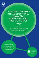 A Global History of Accounting  Financial Reporting and Public Policy PDF