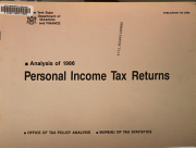 Analysis of     Personal Income Tax Returns PDF