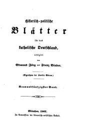 Historisch-politische Blätter für das katholische Deutschland: Band 59