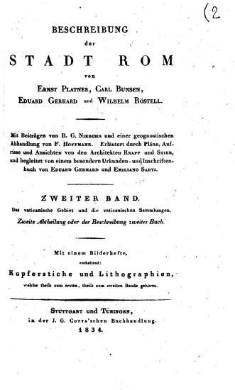 Beschreibung der Stadt Rom von Ernst Platner      et al   PDF