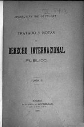 Tratado y notas de derecho internacional público: Volumen 2