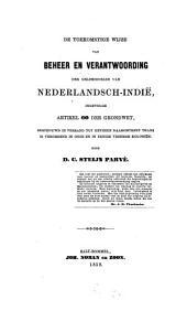 De toekomstige wijze van beheer en verantwoording der geldmiddelen van Nederlandsch-Indie ingevolge artikel 60 der grondwet