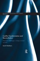 Conflict Transformation and Reconciliation PDF