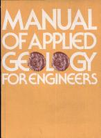 Manual of Applied Geology for Engineers PDF