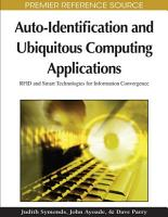 Auto Identification and Ubiquitous Computing Applications PDF