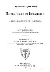 Materia Medica and Therapeutics: A Manual for Students and Practitioners