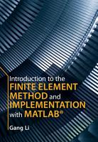 Introduction to the Finite Element Method and Implementation with MATLAB PDF