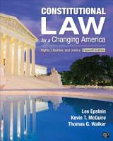 Constitutional Law for a Changing America PDF