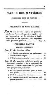 Cours d'analyse de l'École royale polytechnique: Volume1