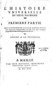L'histoire universelle du sieur d'Aubigné..