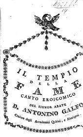 Il Tempio della Fame; Canto eroicomico