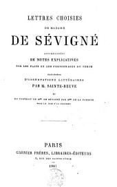 Lettres choisies de Madame de Sévigné