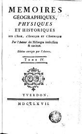 Memoires géographiques, physiques et historiques, 4: sur l'Asie, l'Afrique & l'Amérique, Volume2