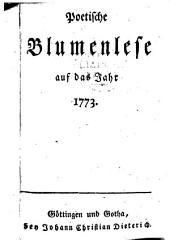 Musenalmanach. (Hrsg. von Boie, Gotter, Bürger, Göcking, Reinhaus.)