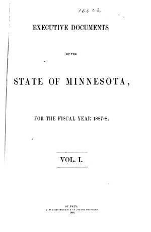 Executive Documents of the State of Minnesota for the Year