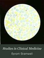 Studies in Clinical Medicine PDF