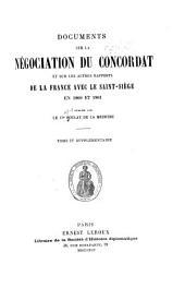 Documents sur la négociation du concordat et sur les autres rapports de la France avec le Saint-Siège en 1800 et 1801: Volume4