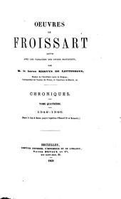 Chroniques de Froissart: 1342-1346