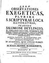 Observationes exegeticas plurima S. Scripturae loca illustraturas: Missus V.
