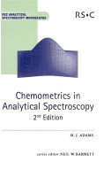 Chemometrics in Analytical Spectroscopy PDF