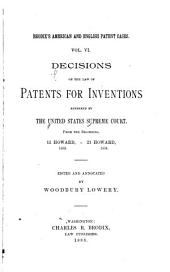 Decisions on the Law of Patents for Inventions Rendered by the United States Supreme Court: Decisions by the U.S. Supreme Court, 1754-1890