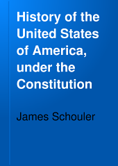 History of the United States of America: 1783-1801. Rule of Federalism