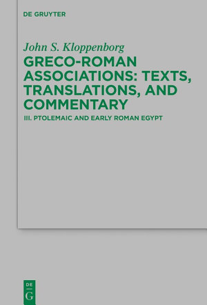 Ptolemaic and Early Roman Egypt
