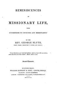 Reminiscences of Missionary Life Book