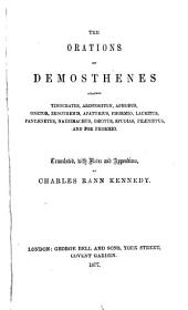 The Orations of Demosthenes Against Timocrates, Aristogiton, Aphobus, Etc: Volume 4