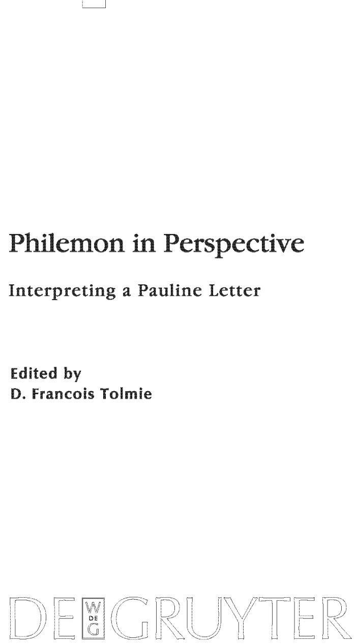 Philemon in Perspective