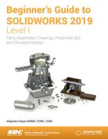 Beginner s Guide to SOLIDWORKS 2019   Level I PDF
