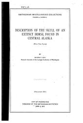 Description of the Skull of an Extinct Horse, Found in Central Alaska (with Two Plates)