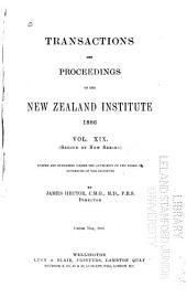 Transactions and Proceedings of the New Zealand Institute: Volume 19