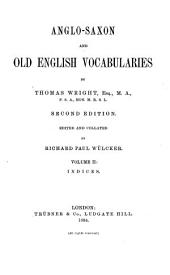 Anglo-Saxon and Old English Vocabularies: Indices