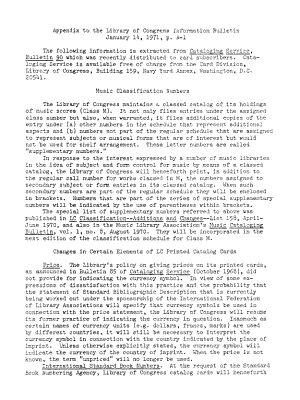 Information Bulletin   Library of Congress PDF