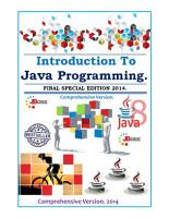 Introduction to Java Programming  Comprehensive Version 2014 2015 PDF